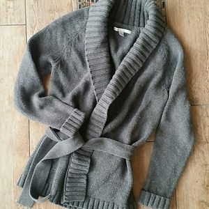 OLD NAVY BELTED LONG CARDI